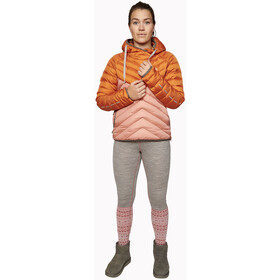 Varg Älgön Down Hood Women, retro orange/pawn pink